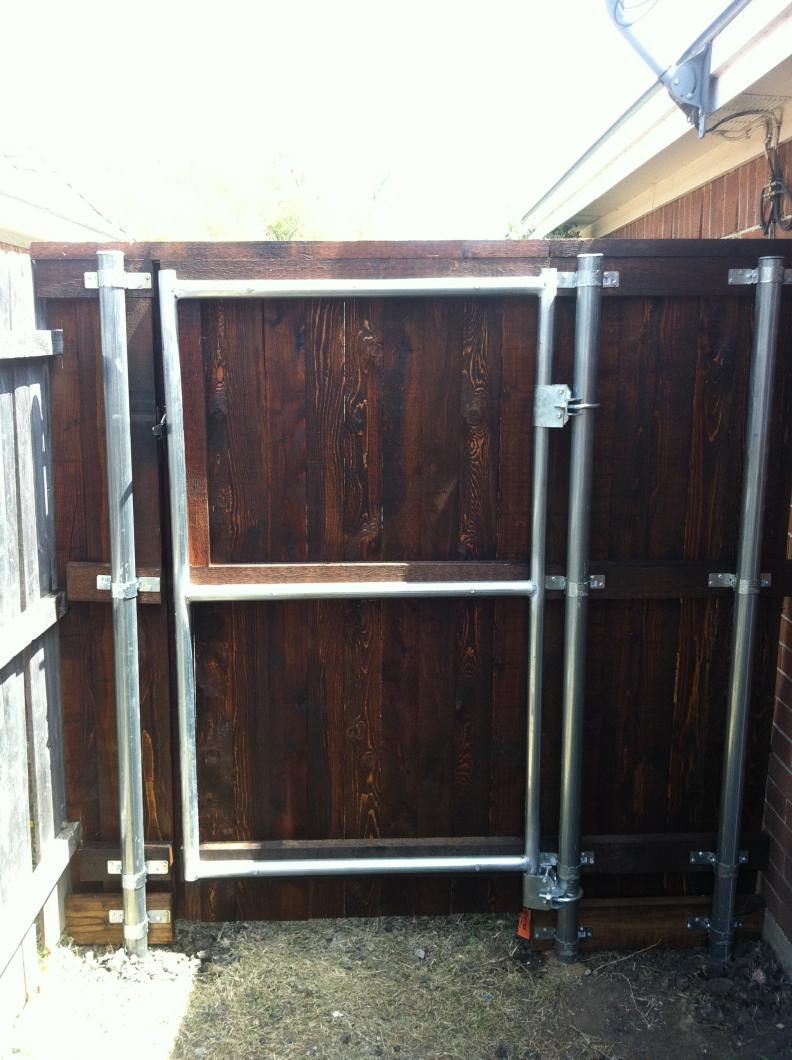 Galvanized steel frame drive gate fence dallas wood gate - Galvanized Steel Frame Drive Gate Fence Dallas Wood Gate 11